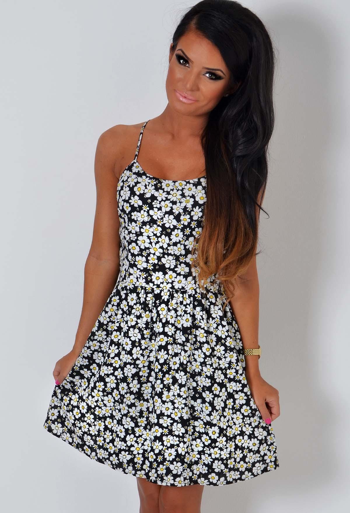 464c4be1e76c Margarida Floral Daisy Print Swing Dress