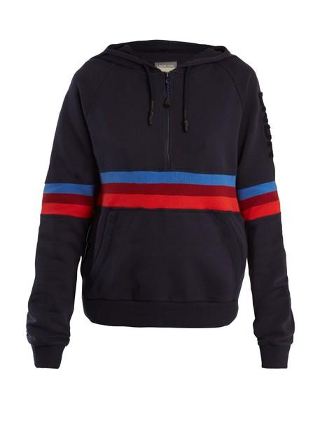 lndr sweatshirt cotton navy sweater