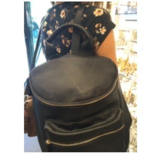bag backpack black leather backpack school bag black