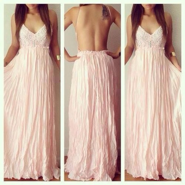 maxi dress prom dress jewels outfit classy light pink dress night dress dress party party dress