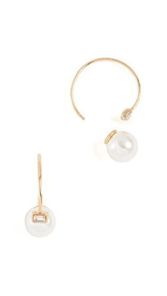 Rebecca Minkoff baby pearl earrings gold jewels