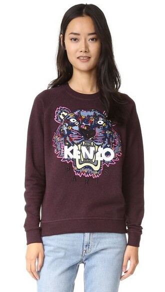 sweatshirt tiger print sweater