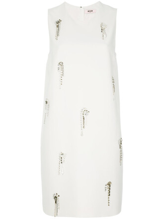 dress shift dress women embellished white
