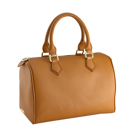 Saddle Brooke Barrel Bag | Pebble Grain | GiGi New York