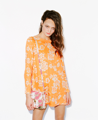dress bag floral orange jeffrey campbell