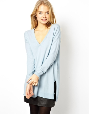 ASOS | ASOS Jumper With Deep V-Neck at ASOS