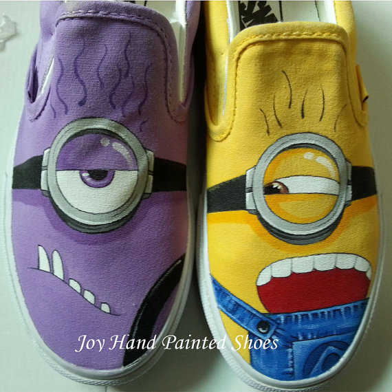 b80989b291 minion vans minions shoes hand painted shoes custom canvas shoes