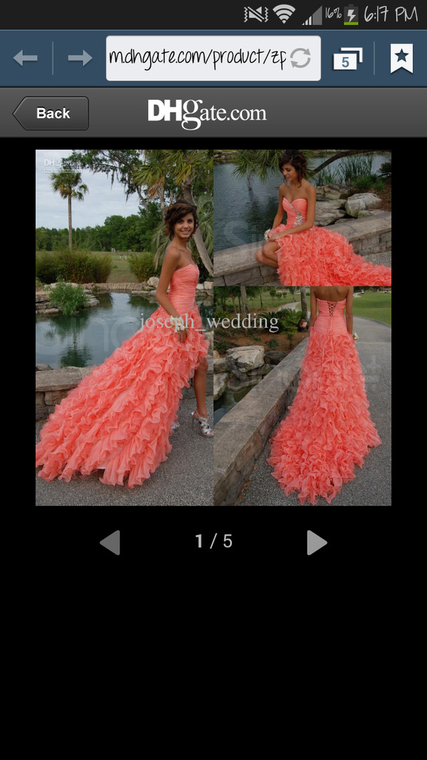 dress prom dress pink dress high low dress hilowdress homecoming dress fashion