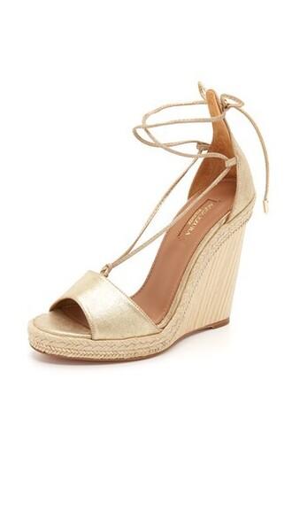 light espadrilles gold shoes