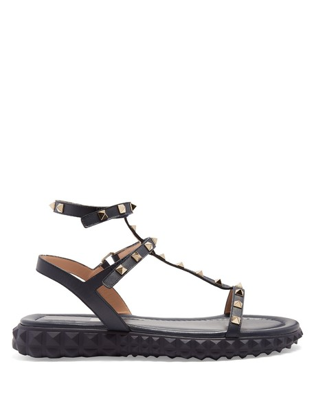 Valentino sandals leather sandals leather navy shoes