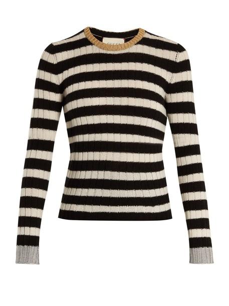 gucci sweater wool black