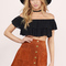 All day genuine suede skirt