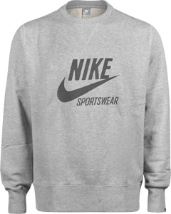 Nike AW77 Player Crew Graphic sweater dk grey h./dark grey