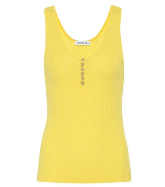 Altuzarra Wool and cashmere tank top in yellow
