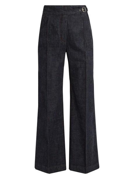 high cotton blue pants