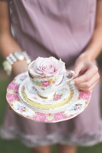 home accessory cute vintage shabby chic floral teacup romantic girly roses classy elegant