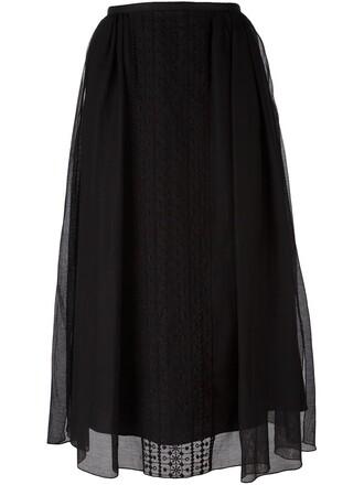 skirt embroidered black