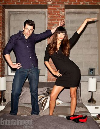 dress new girl black dress bodycon dress menswear mens shirt hannah simone jake johnson tv show
