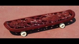 home accessory skateboard wood