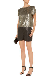top,sequins,gold sequins