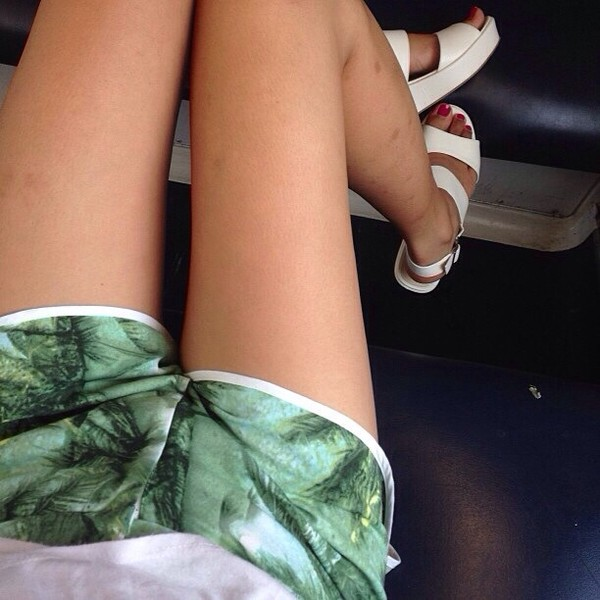shorts shoes floral forest green thin pattern tree cute summer white tumblr sandals