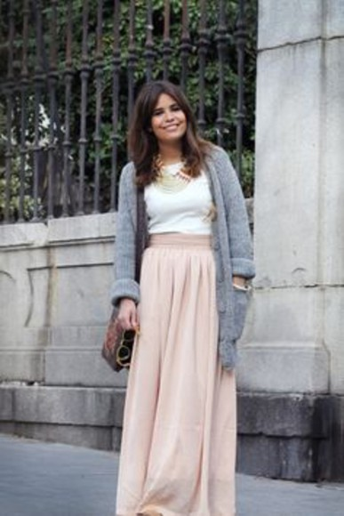 pink pale pink skirt maxi skirt maxi pink pale, blue and pink shoes clothes