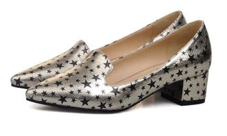 shoes saint laurent yves saint laurent loafers stars starry night flats metallic shoes pumps