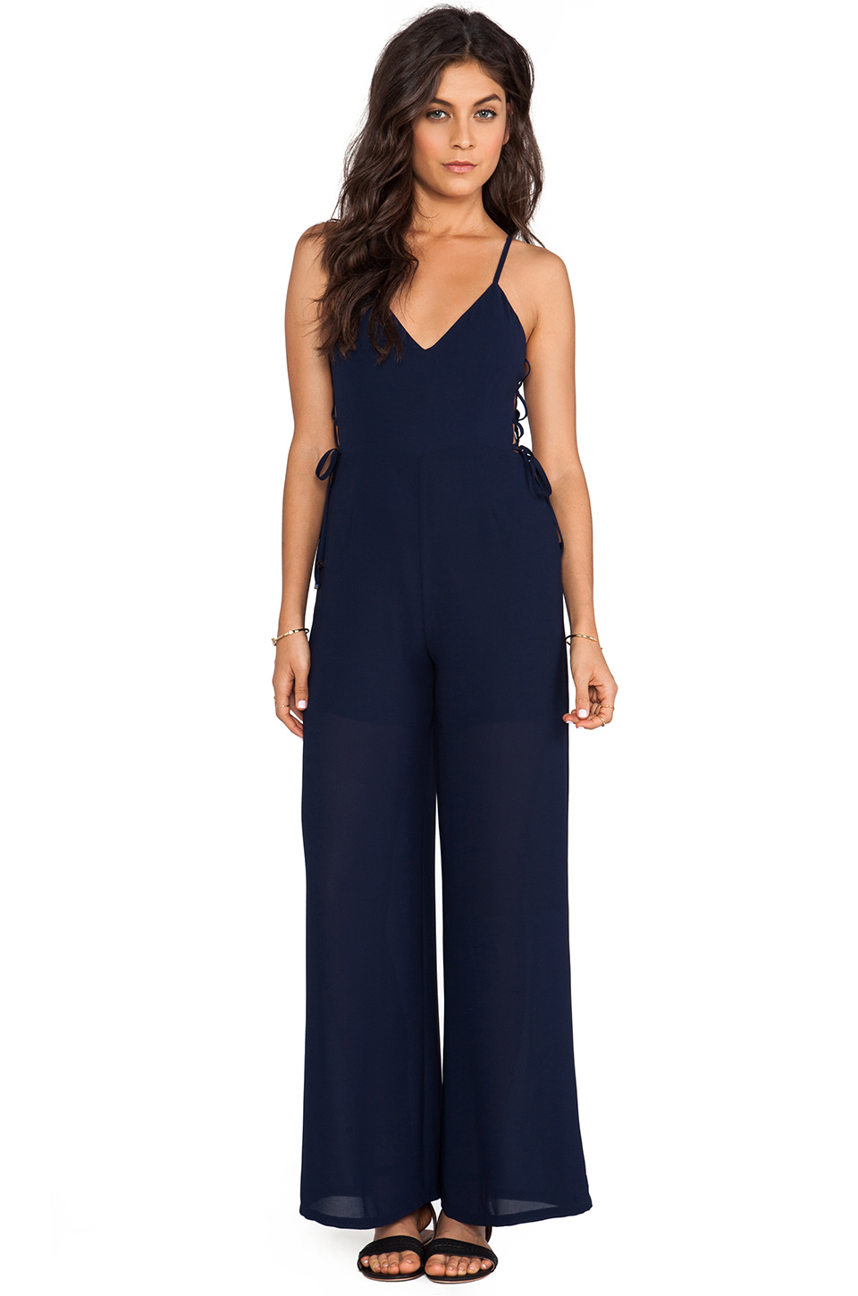 Line & Dot Blonde Ambition Jumpsuit in Ink from REVOLVEclothing.com