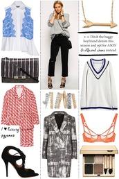 cocos tea party,blogger,underwear,blazer,outfit,arrow,bra,shirt