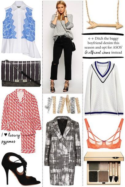 cocos tea party blogger underwear blazer outfit arrow bra shirt