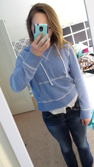 sweater blue sweater sweatshirt warm sweatshirt white lines hoodie love it light blue