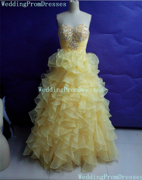 ball gown prom dress prom 2015 yellow ball gown prom dresses 2015 ball gown dresses sweetheart dresses prom dresses /graduation dress .party dress
