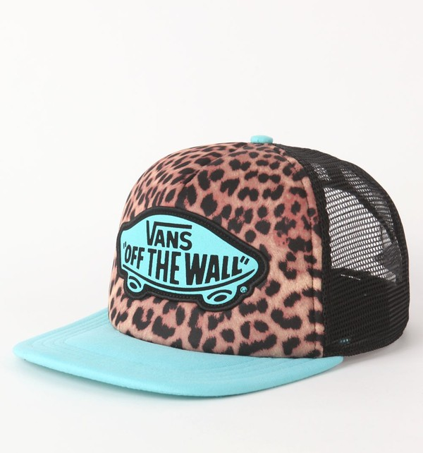 hat vans leopard print snapback women cap
