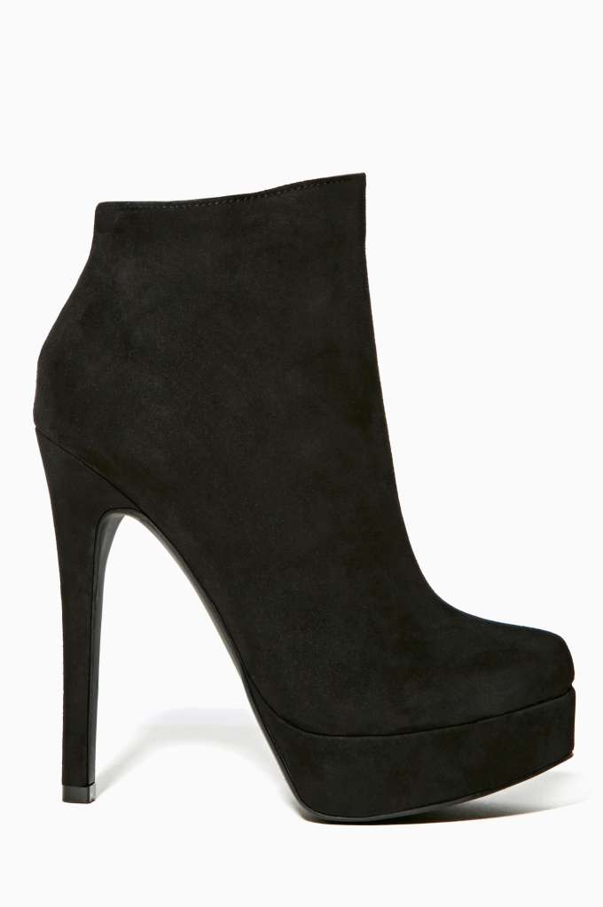 Shoe Cult Veronika Platform Bootie - Black in  Shoes Booties at Nasty Gal