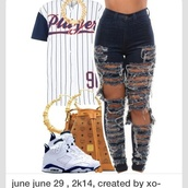 jeans,shoes,jewels,top,cut jeans,jersey,urban,shirt,pants,birthday