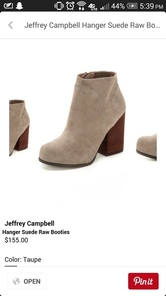 shoes suede boots booties heels suede boots suede booties gray light grey light gray cute shoes feminine modern classy new taupe taupe booties taupe heels jeffrey campbell taupe suede ankle boots taupe suede boots