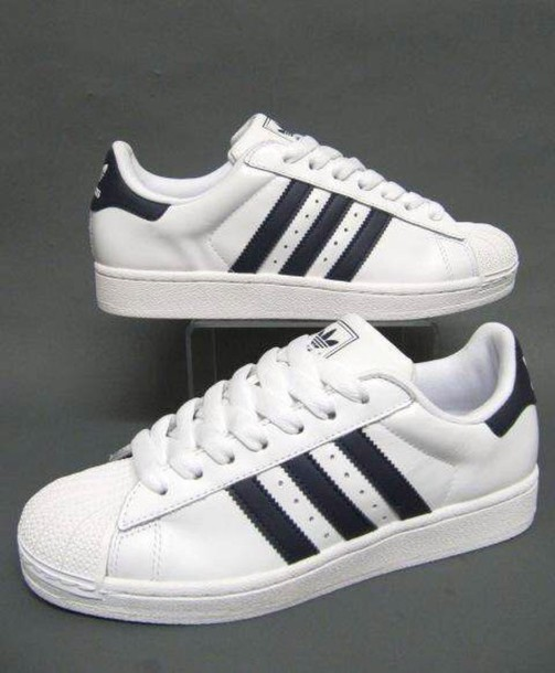 black and white adidas superstar