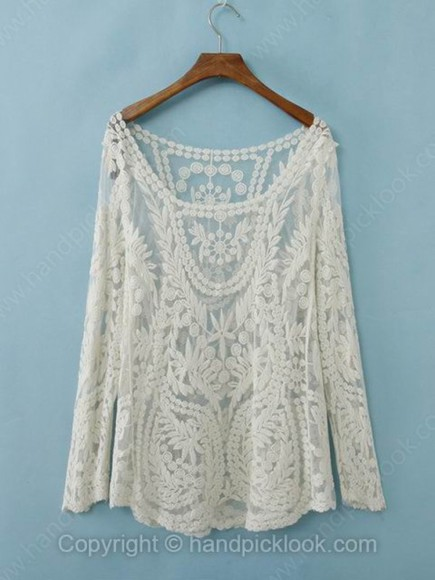 white lace top white lace top cream long sleeves cream top sheer sheer top cream lace sheer lace