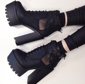 shoes black heels boots platform shoes socks