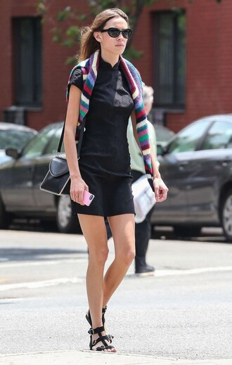 dress sweater sandals summer dress alexa chung