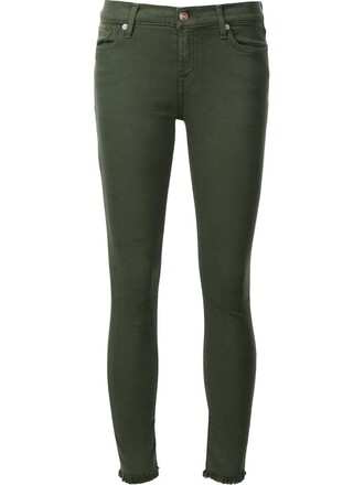 jeans skinny jeans cropped green