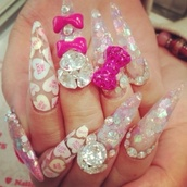 nail accessories,cotten candy nails