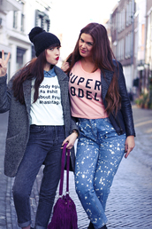 a dash of fash,blogger,jeans,curvy,acid wash jeans,graphic tee,leather jacket,fringed bag