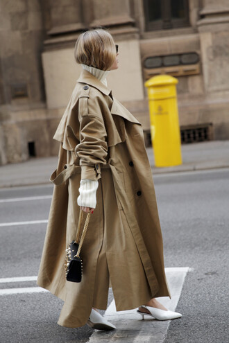 coat tumblr camel camel coat camel long coat oversized oversized coat trench coat shoes white shoes slingbacks