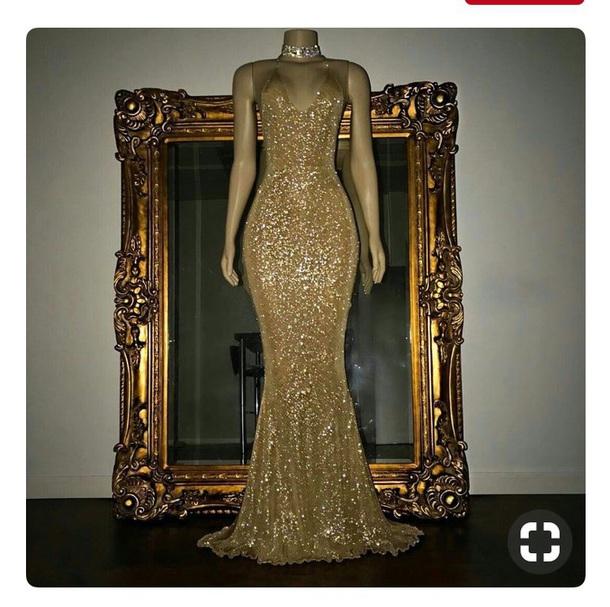 dress gown gold dress