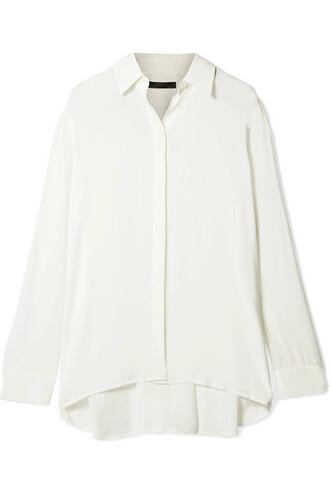 blouse chiffon blouse chiffon pleated white top