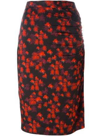 skirt print red