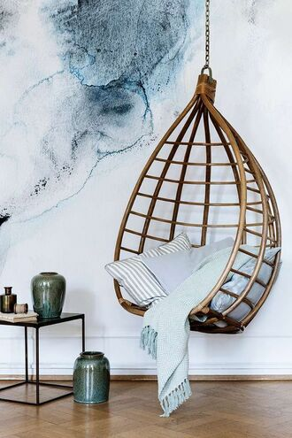 home accessory tumblr hanging chair chanel pillow table home decor home furniture cozy