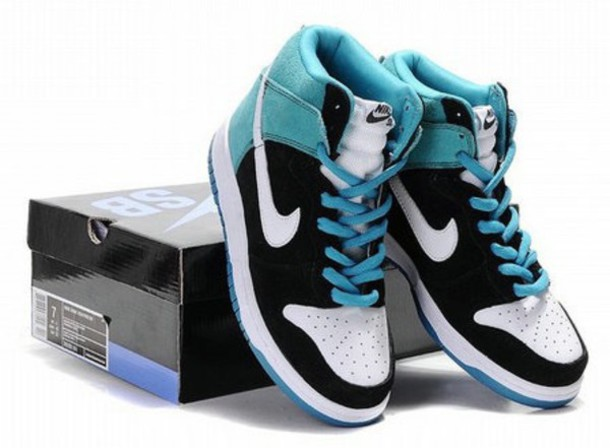 shoes blue black white