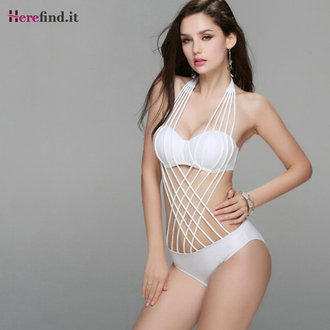 swimwear bikini bandage swimwear bandage bikini bandage design white bikini white swimwear black bikini black swimwear